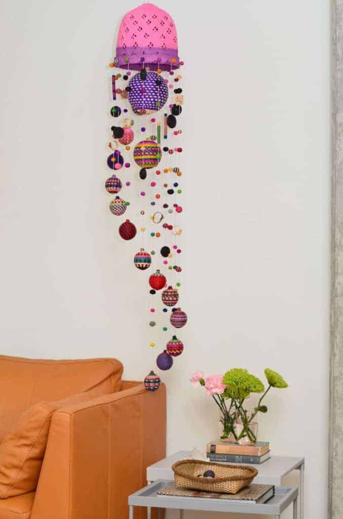 Iraca hanging mobile