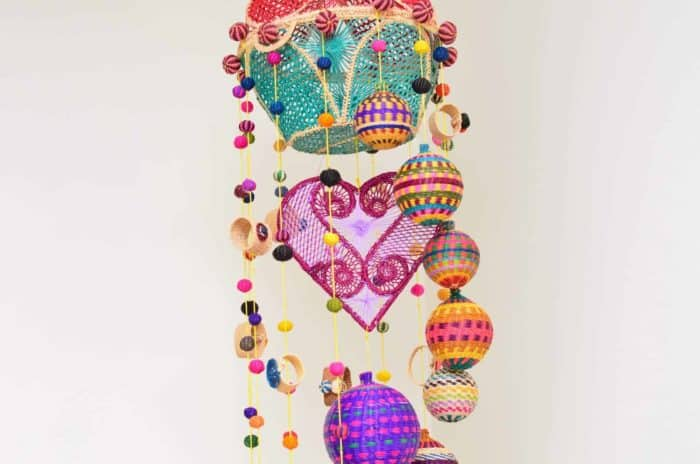 Iraca Hanging Mobile. Decor Accents