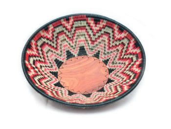 Main product image of a Shallow Bowl made from Werregue fiber with Red White and black pattern