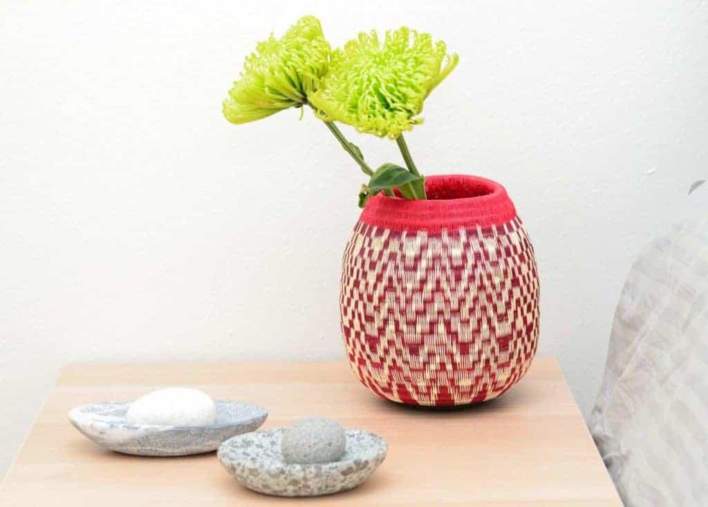 Sculpted river rocks and werregue bowl decorative accents