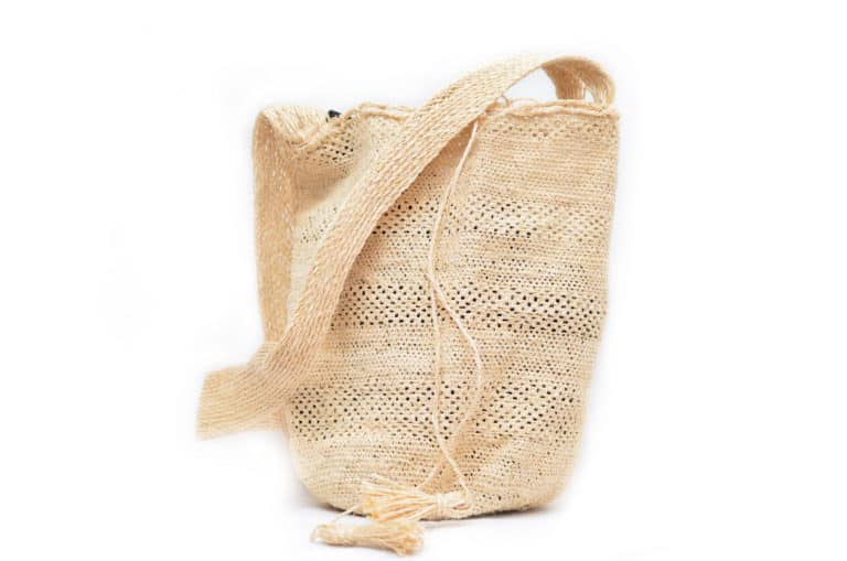 Kiskadee Design Catalogue Image of a Colombian Mochila Bag in White Fique