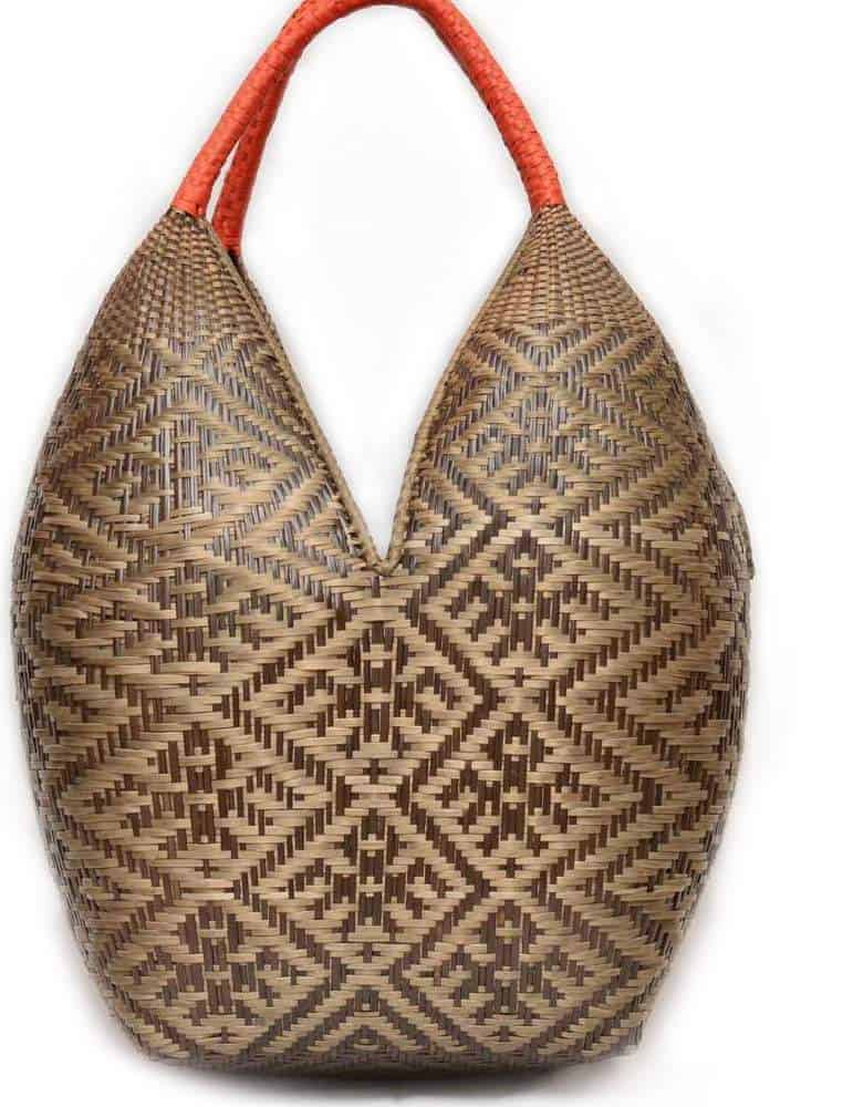 Cuatro Tetas Basket with Bird Pattern