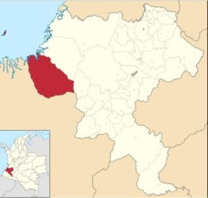 Geographical location of Guapi, Cauca - Colombia.