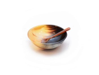 Main product image of a Small bowl and spoon set made from horn