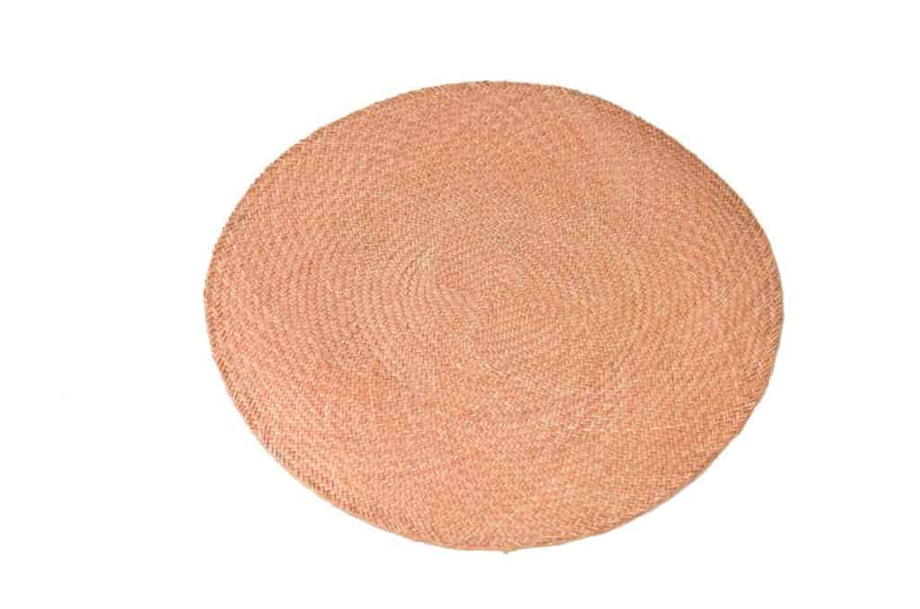 Main product image of rose round placemats woven in iraca fibers