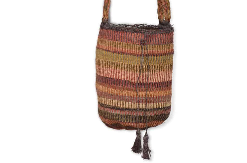 Kiskadee Design Catalogue Image of a Guatapuri Pattern Kankuamo Fique Mochila by Women of the Indigenous Tribe in the Sierra Nevada de Santa Marta - Colombia