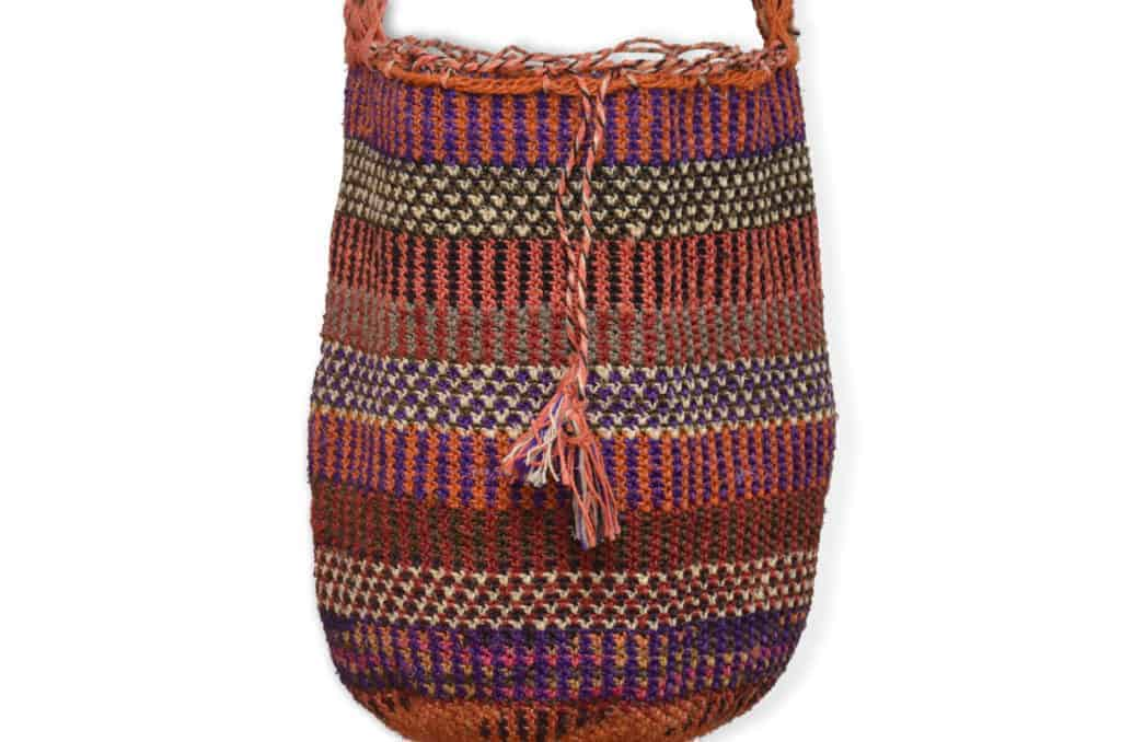 Kiskadee Design Catalogue Image of a La Mina Pattern Kankuamo Fique Mochila by Women of the Indigenous Tribe in the Sierra Nevada de Santa Marta - Colombia