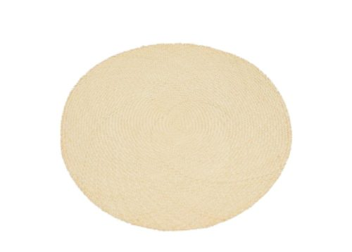 Main product image of round placemats woven in natural iraca fibers