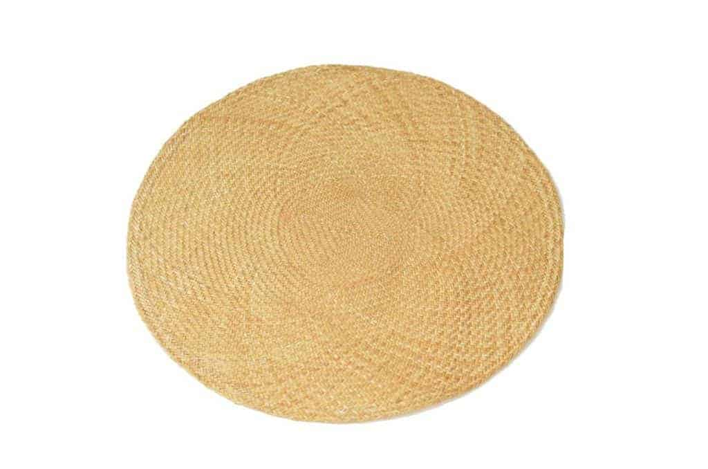 Main product image of tan round placemats woven in iraca fibers