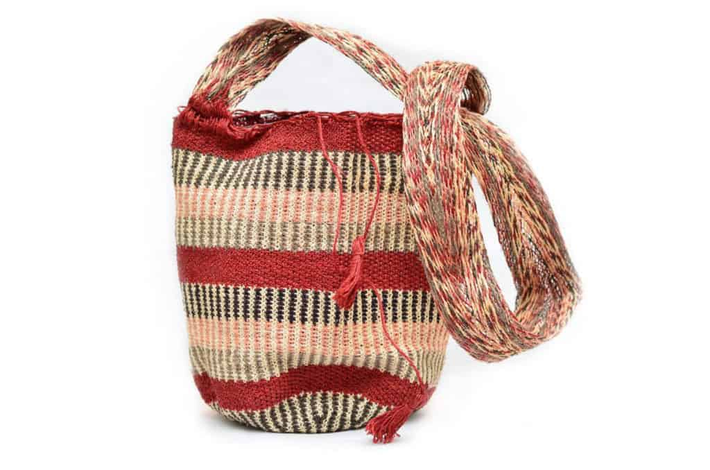 Main product image of a colombian mochila bag handwoven from colorful fique natural fibers