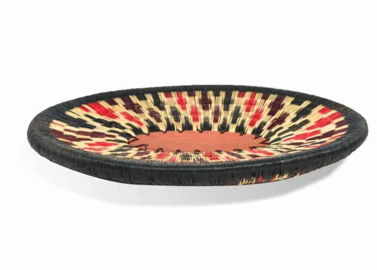 Kiskadee Design Product Image of a Black, White, Burgundy and Red Pattern Small Decorative Bowl by The Wounaan Tribe in The Colombian Pacific Coast