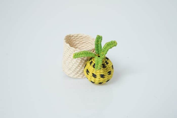 Kiskadee Design Pineapple Napkin Ring handwoven from panama hat fibers
