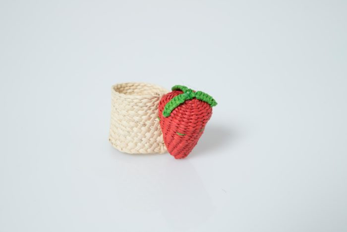 Kiskadee Design Strawberry Napkin Ring handwoven from natural fibers