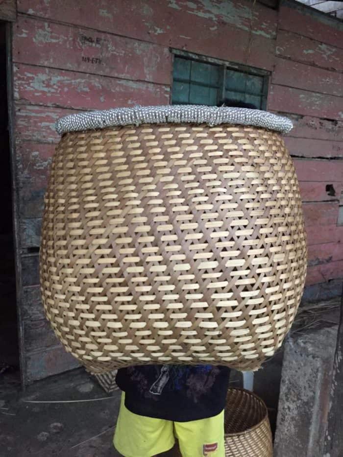 Kiskadee Design image of finished basket in the community